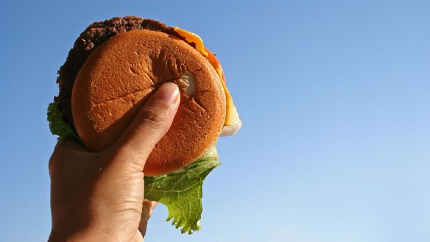 Ilustrasi hamburger.