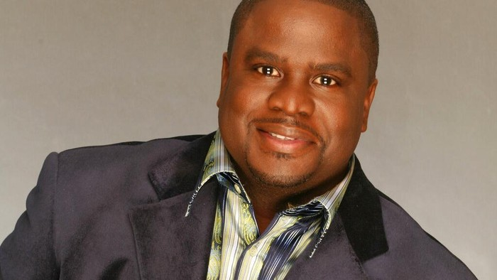 In this image provided by Emtro Gospel, Troy Sneed poses for a portrait. Grammy-nominated gospel singer Sneed has died from complications with the coronavirus. He was 52. Publicist Bill Carpenter says the singer died early Monday at a hospital in Jacksonville, Fla. (Tim Dahn/Emtro Gospel via AP)