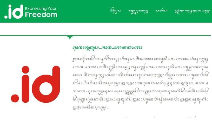 Pengelola Nama Domain Internet Indonesia (Pandi) berencana meluncurkan domain yang tak biasa, yakni beraksara jawa penuh.