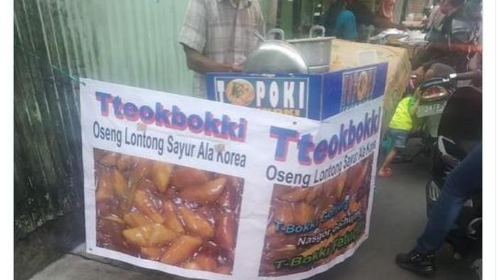 Penjual Tteokbokki Namai Produknya Oseng Lontong Sayur Ala Korea