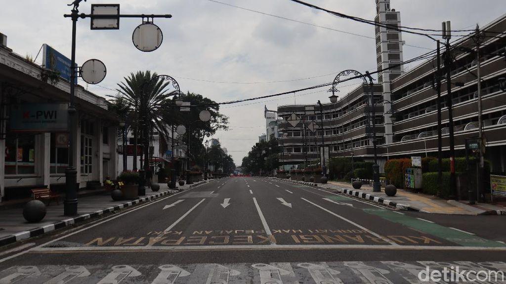PSBB Proporsional di Bandung, Jalanan yang Ditutup Kembali Dibuka