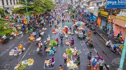 Rapi Jali, Pedagang Pasar Salatiga Terapkan Physical Distancing
