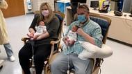 Hamil Kena Corona, Ibu Baru Bertemu Bayi Kembarnya 3 Minggu Pascamelahirkan
