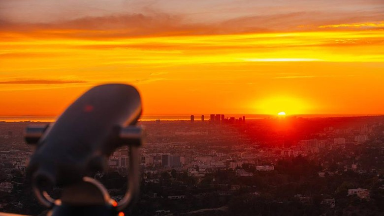 Sunset di Los Angeles.