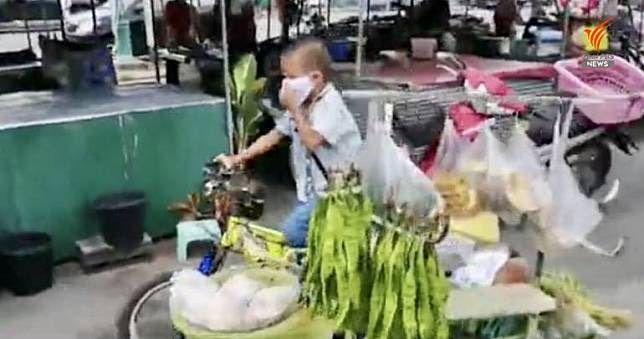 Dong kayuh sepeda jualan sayuran
