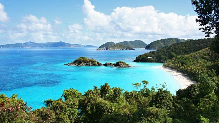 Pulau AS di Karibia.