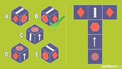 Jaring-jaring kubus punya pola tertentu yang selalu bisa diamati. Tapi butuh fokus yang tajam agar tak terjebak. Mana sajakah kubus yang sesuai pola?
