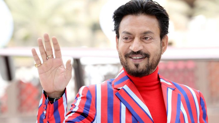 DUBAI, UNITED ARAB EMIRATES - DECEMBER 08:  Irrfan Khan attends a photocall on day three of the 14th annual Dubai International Film Festival held at the Madinat Jumeriah Complex on December 8, 2017 in Dubai, United Arab Emirates.  (Photo by Vittorio Zunino Celotto/Getty Images for DIFF)