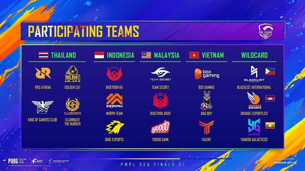 Ini 16 Tim yang Tanding di PUBG Mobile Pro League SEA