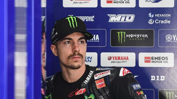 Monster Energy Yamahas Spanish rider Maverick Vinales is pictured inside his team garage during the first day of the pre-season MotoGP winter test at the Sepang International Circuit in Sepang on February 7, 2020. (Photo by Mohd RASFAN / AFP)