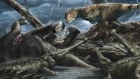 Di lokasi tersebut, para peneliti menemukan banyak fosil cartilaginous, kura-kura, pterosaurus, dinosaurus dan aneka tumbuhan zaman prehistorik selama beberapa dekade. Yang membuatnya lebih berbahaya, Kem Kem Groups diketahui menyimpan banyak fosil karnivora berbadan raksasa (Davide Bonadonna)