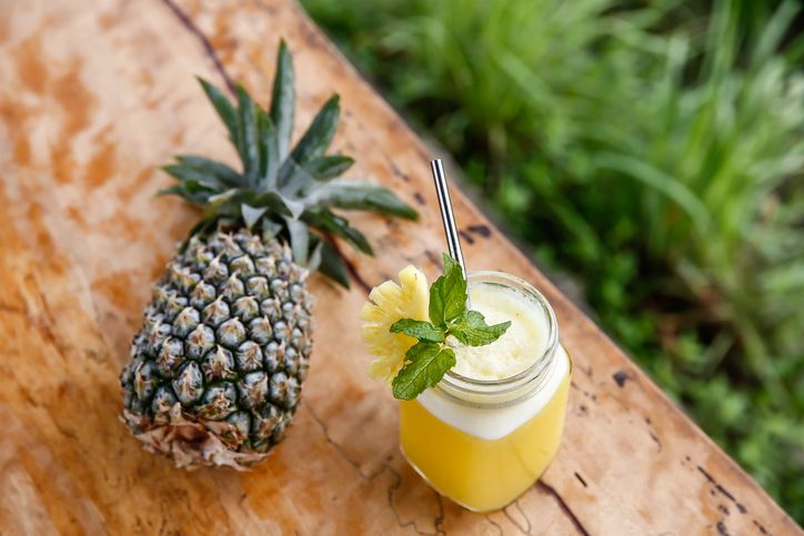 Portion of fresh Pineapple Juice in a glass