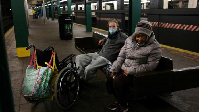 Para tunawisma di New York, AS tinggal di subway (AFP)