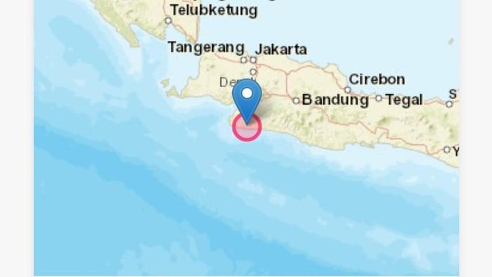 Gempa 5 M di sukabumi