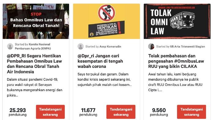 Petisi Online Desak Tunda Pembahasan RUU Kontroversial