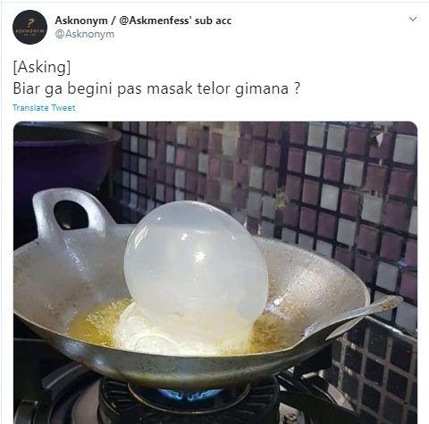 Telur ceplok seperti balon