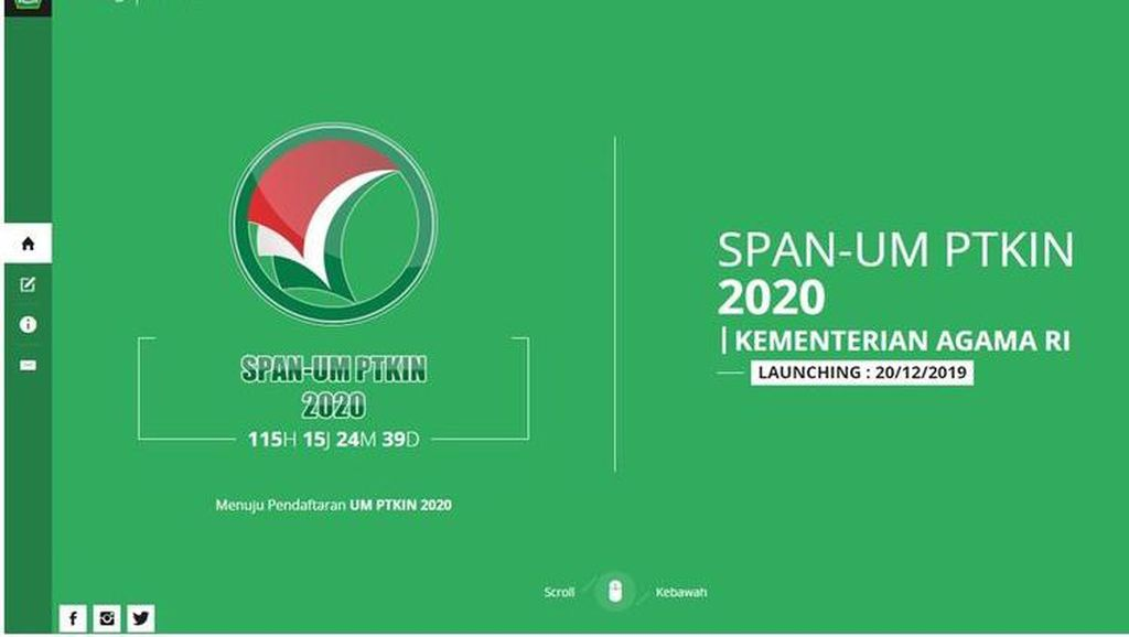 Pendaftaran UM-PTKIN 2020 Diperpanjang hingga Besok, Begini Syarat-syaratnya