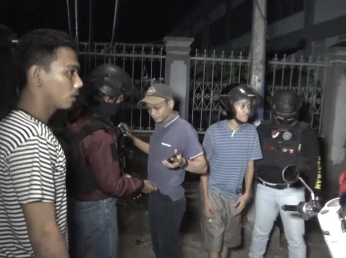 Tim Penikam Polrestabes Makassar tangkap 2 kelompok pemuda balap liar.