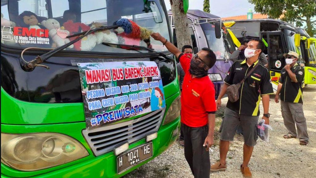 Protes Tidak Diperhatikan Pemerintah, Pengusaha Elf Gelar Aksi Manasi Mesin