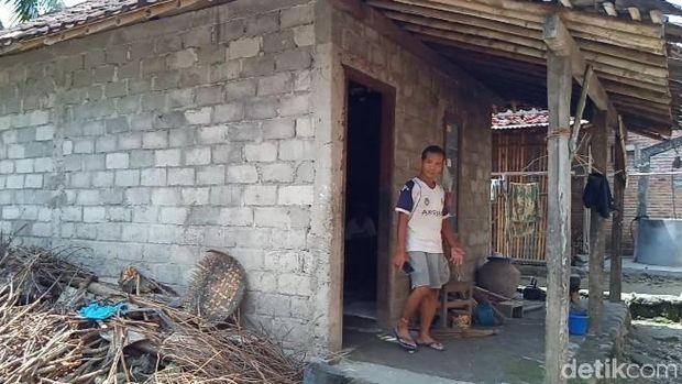 Rumah yang dihuni Mbah Minto yang viral gegara dagelan gagal mudik