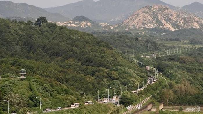 Pos perbatasan Korea Utara dan Korea Selatan militer (AFP)