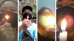 Viral Tes Tiup Api Pakai Masker Scuba, Tak Padam Berarti Aman?