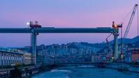 Jembatan baruini dibangun dengan cepat di tengah pandemi Corona. Memiliki panjang sejauh lebih dari satu kilometer dengan ketinggian 45 meter.