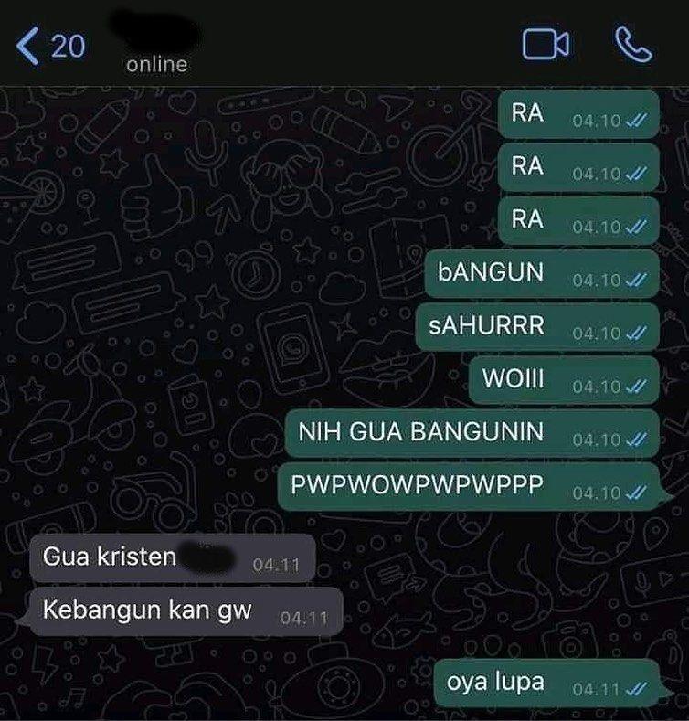 Chat bangunin sahur