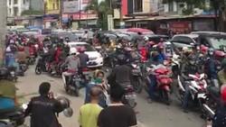 Hari Pertama PSBB di Gowa, Lalin di Perbatasan Arah Makassar Macet 4 Km