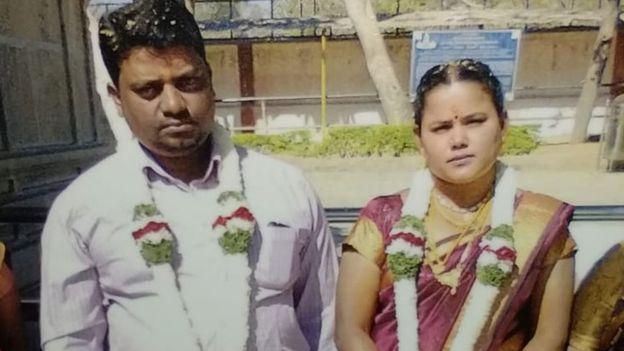 Rajesh Jayaseelan dan istrinya, Mary