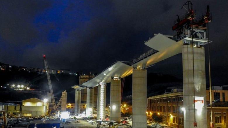 Jembatan Morandi Baru Genoa Italia