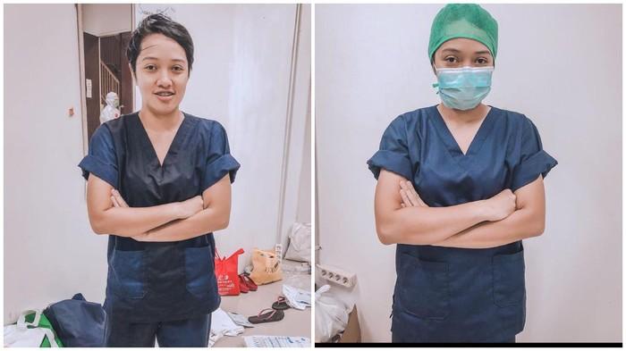 dr falla adinda relawan virus corona di wisma atlet