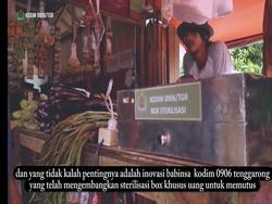 Tangkal Corona, Personel TNI di Tenggarong Ini Ciptakan Box Sterilisasi Uang