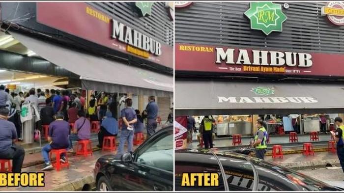 Restoran ramai pelanggan saat pandemi Corona