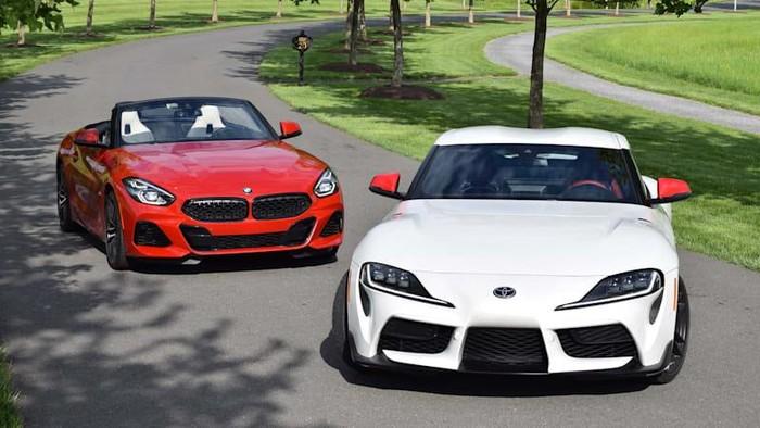 Toyota Supra dan BMW Z4