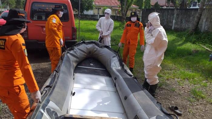 Proses pencarian pencari kodok yang hilang di Sungai Musi (Raja-detikcom)