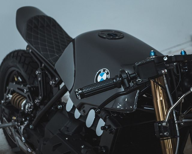 Modifikasi BMW K100 bergaya cafe racer