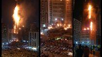 Video Apartemen di UEA Terbakar Hebat