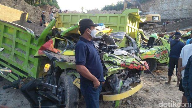 Lokasi tambang galian yang longsor dan tewaskan dua orang di Rembang, Rabu (6/5/2020).