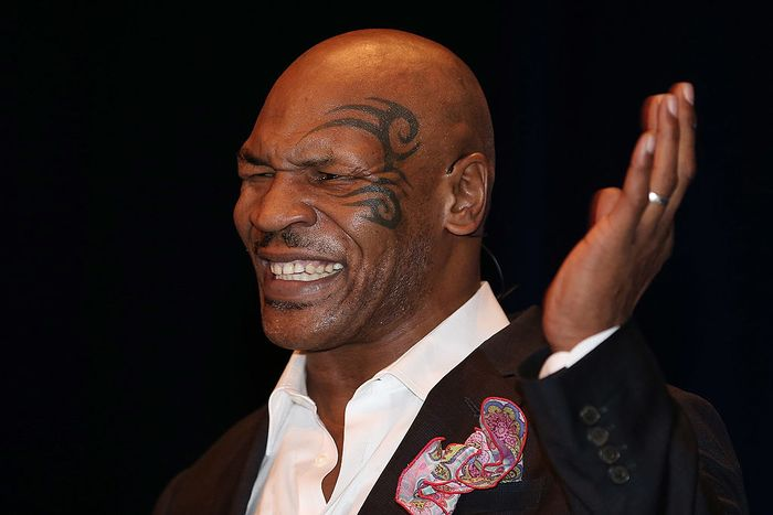 BRISBANE, AUSTRALIA - NOVEMBER 16:  Mike Tyson speaks on stage during his speaking tour,
