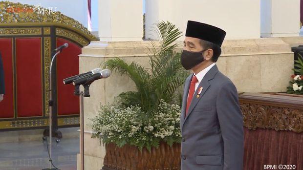 Pelantikan Kepala BNPT dan Pengucapan Sumpah Kepala PPATK, Istana Negara, 6 Mei 2020. Screenshot Sekretariat Presiden