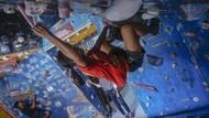 Keren! Atlet Panjat Tebing Ini Tetap Berlatih saat Ramadhan