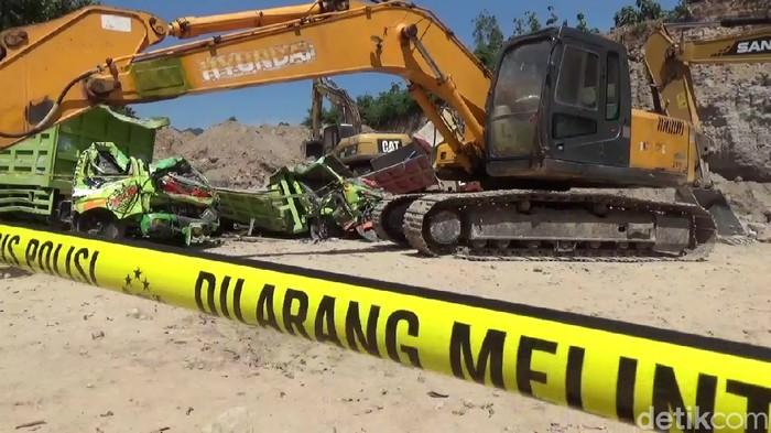 Lokasi tambang longsor yang tewaskan dua pekerja di Rembang, Kamis (7/5/2020).