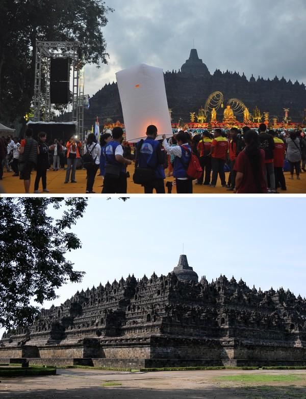 Sejak pandemi Corona, Candi Borobudur tampak sepi.