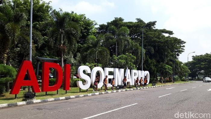 Bandara Adisutjipto Yogyakarta, Selasa (1/1/2019).