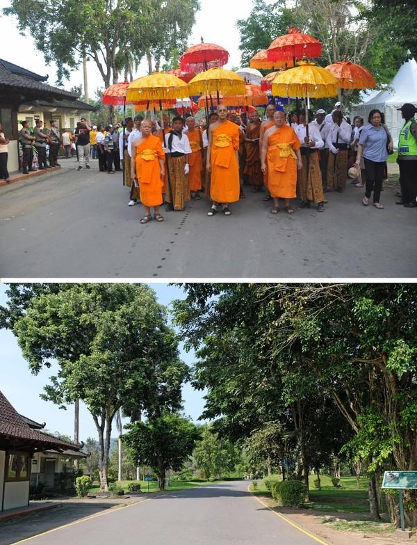 Rangkaian perayaan hari raya Tri Suci Waisak tahun ini terpaksa tidak dilaksanakan.