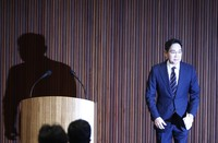 Samsung Electronics Vice Chairman Lee Jae-yong attends a news conference at a companys office building in Seoul, South Korea, Wednesday, May 6, 2020. Lee on Wednesday issued a statement of remorse but offered no clear admission of wrongdoing over his alleged involvement in a 2016 corruption scandal that spurred massive street protests and sent South Korea's then-president to prison. (Kim Hong-Ji/Pool Photo via AP)
