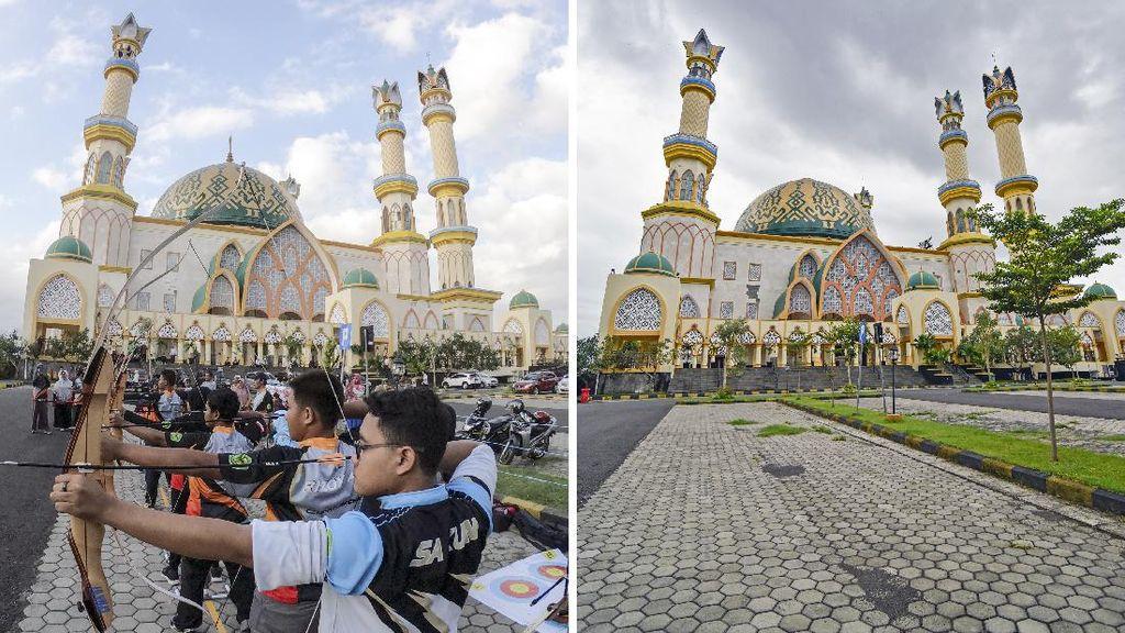 Masjid Hubbul Wathan Jelang Berbuka Sebelum dan Saat Pandemi