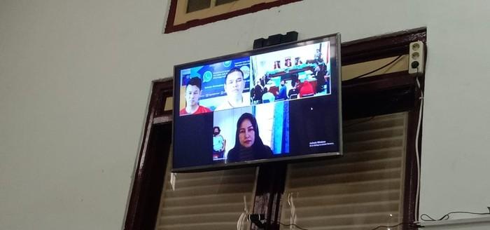 Sidang lanjutan kasus pembunuhan hakim Jamaluddin (Ahmad Arfah-detikcom)