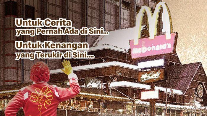 Logo perpisahan McDonalds Sarinah.